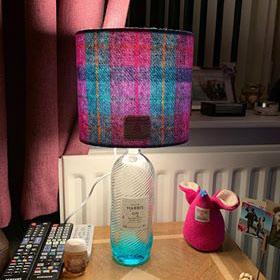 Kingfisher Blue Gin Bottle Lamp