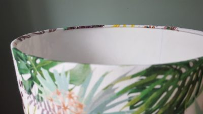 Finish of rolled edge lampshade