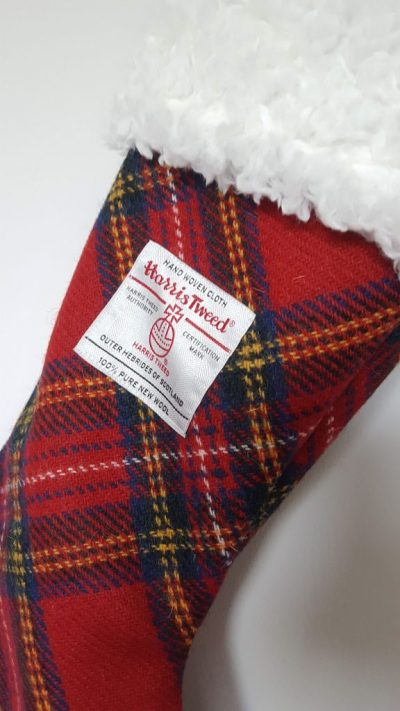 Harris Tweed Christmas Stocking