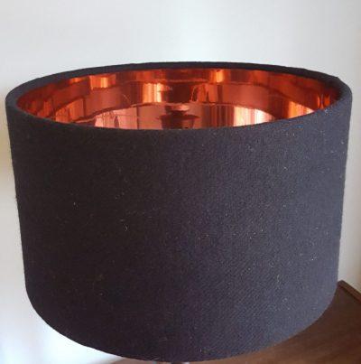 Black Harris Tweed Copper Lining