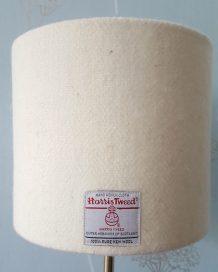 Winter White Harris Tweed Lampshade
