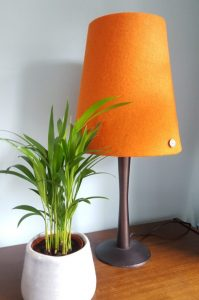 Tall Straight Empire Harris Tweed Lampshade in Burnt Orange by Lucy Wagtail