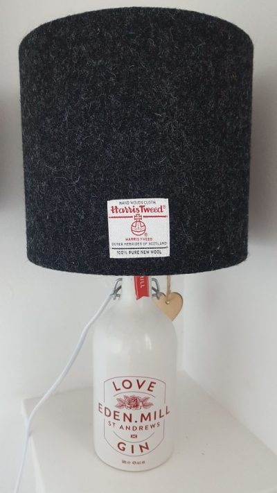 Charcoal Grey Lampshade on Love Gin Bottle