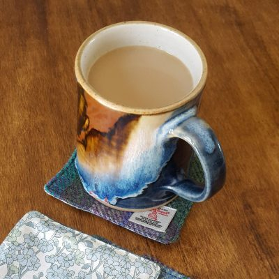 Harris Tweed Coaster and Coffee Cup