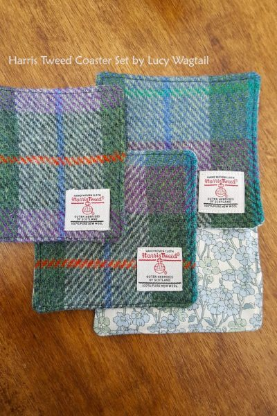 Tartan Harris Tweed Coaster