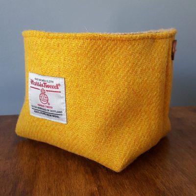 Yellow Harris Tweed Basket