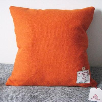 Mid Burnt Orange Harris Tweed Cushion