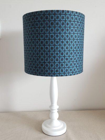 20cm Blue Black Square Moon on Table Lamp
