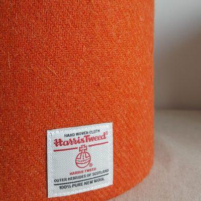 orange Harris Tweed lampshade