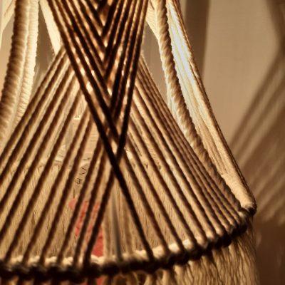 Small Macrame Table Lamp