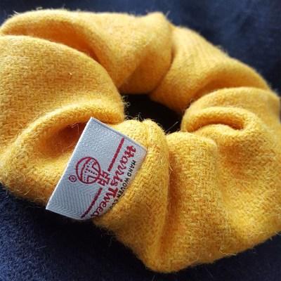 Citrus Yellow Harris Tweed Scrunchie