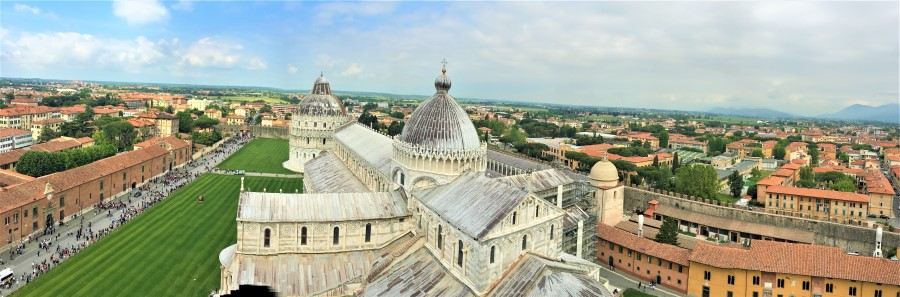 View from Leaning Tower of Pisa