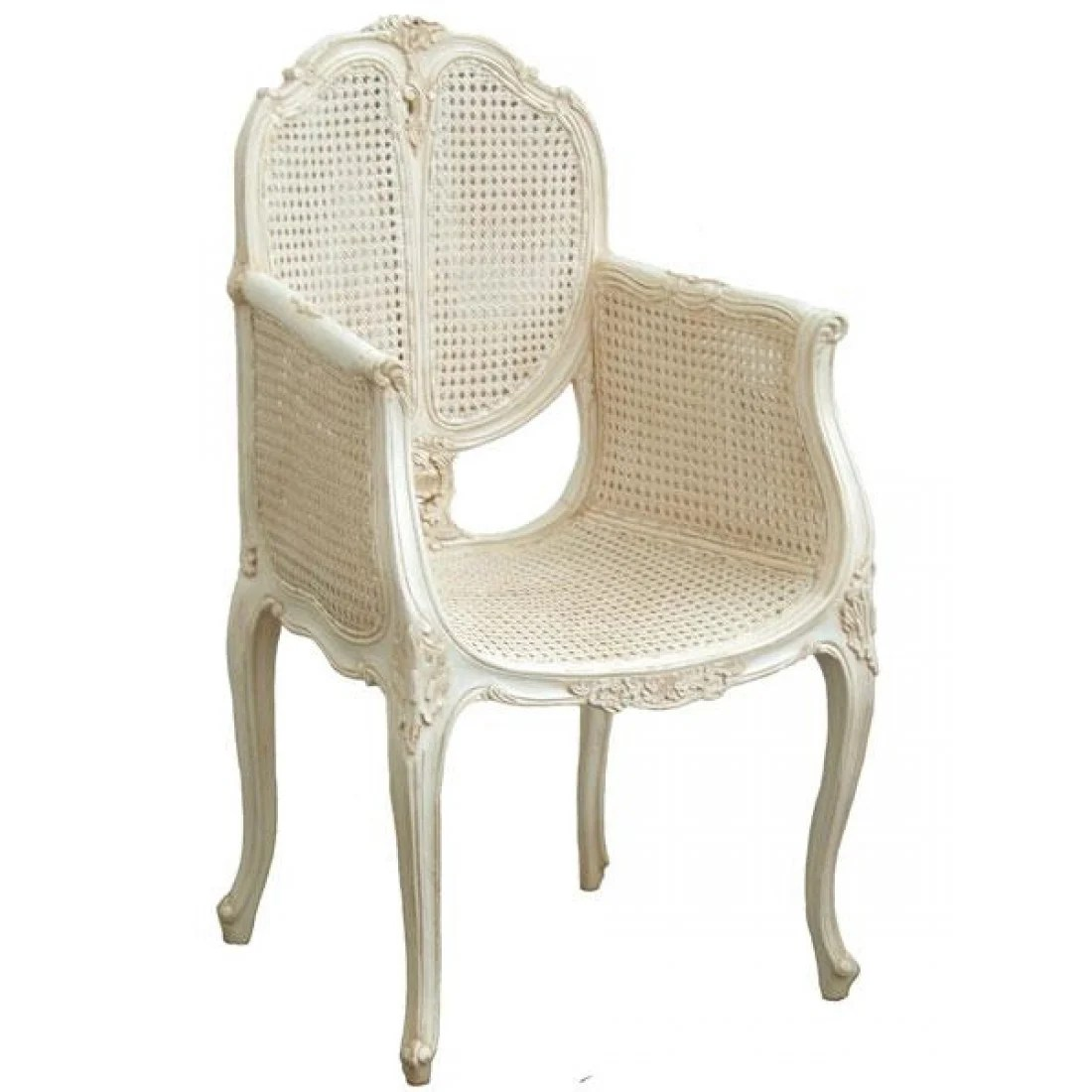 White Rattan Chair Bedroom Chair With Rattan French Chair French Bedroom