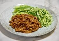 【食譜】京醬肉絲/醬濃肉香北方餐館的招牌菜色,搭配什麼都好吃