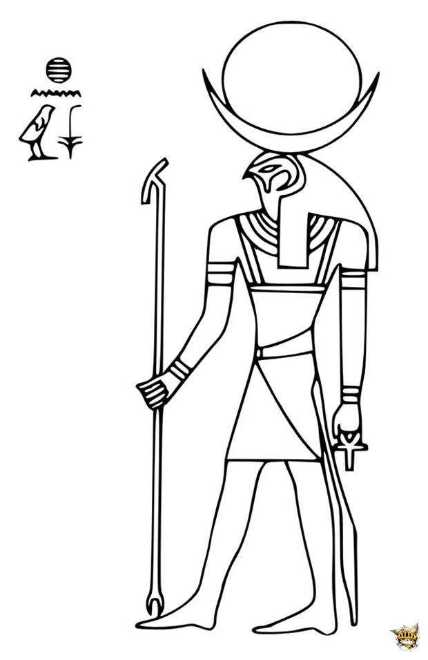 Le dieu Ra est un coloriage d'Egypte