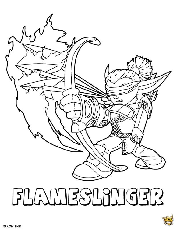 Flameslinger flèche est un coloriage de Skylanders