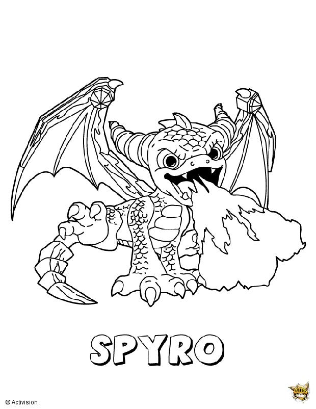 Spyro est un coloriage de Skylanders