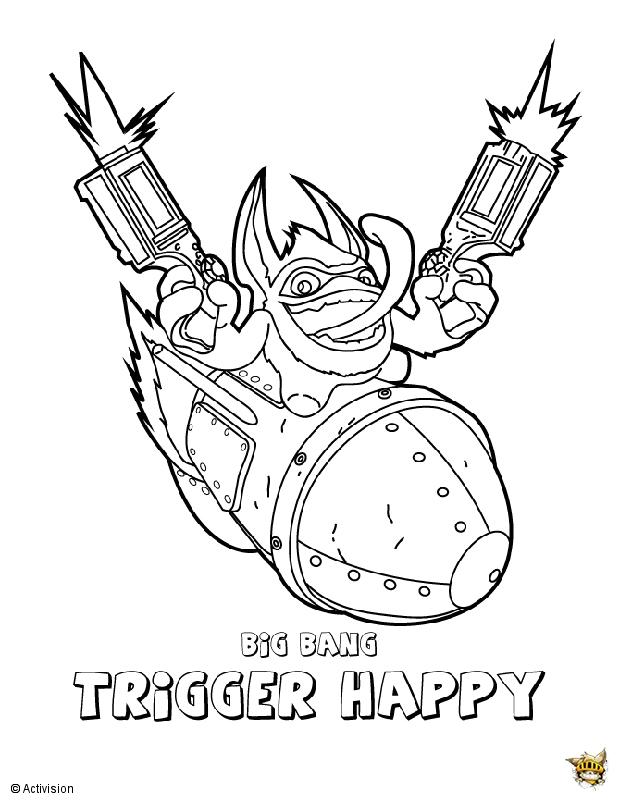 Triggler happy est un coloriage de Skylanders