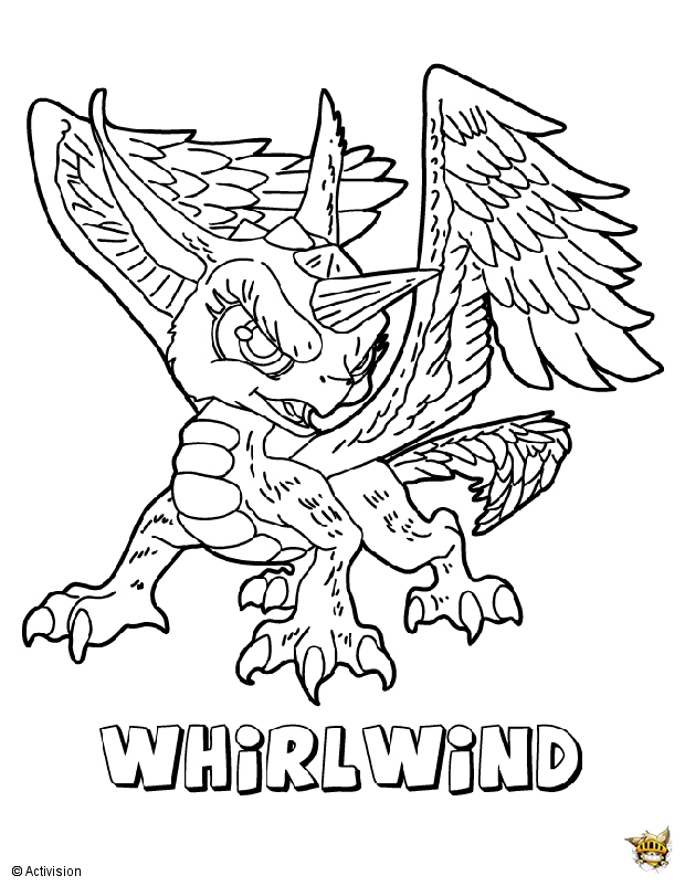 Whirlwind est un coloriage de Skylanders