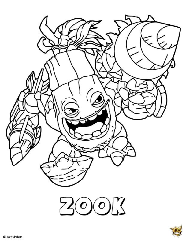 Zook est un coloriage de Skylanders
