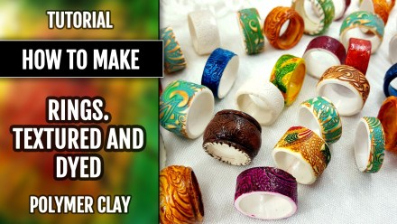 Paid Tutorial: Textured & Dyed Rustics Rings