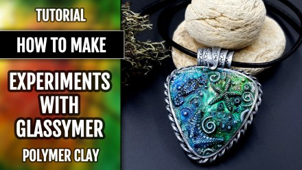Glassymer on Raw Polymer clay