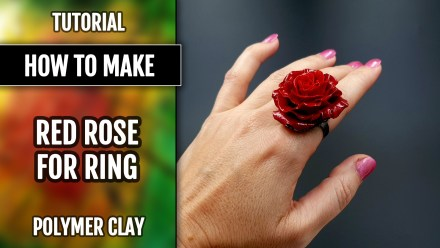 Patron $5+ Video Tutorial: Realistic Red Rose from polymer clay Premo