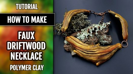 Paid Tutorial: Faux Driftwood Necklace (wood imitation)