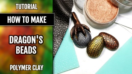 Free Tutorial: Dragon's look cabochons and quick Dragons Paw