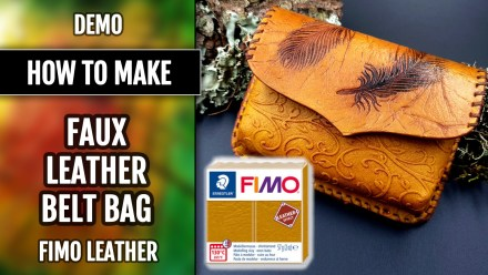 Free Tutorial: Faux Leather Belt Bag – Polymer clay FIMO