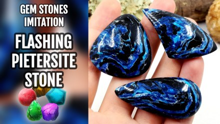 (15+) Video Tutorial: Flashing Pietersite Stone Imitation from polymer clay