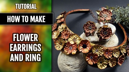 Patron $10+ Video Tutorial: Flower Earrings&Ring using handmade stamps