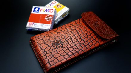 My 1st Faux Leather Phone Case from Fimo Leather Effect
