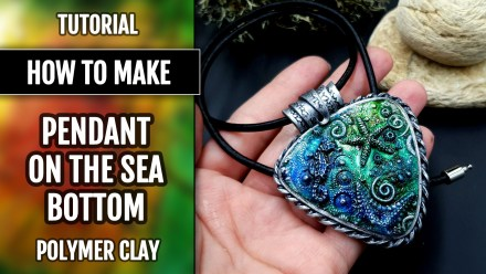 Patron $5+ Video Tutorial: Polymer clay Faux Silver Frame for Pendant