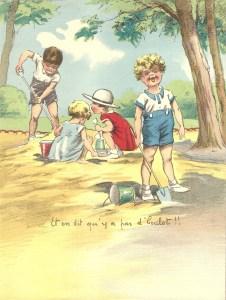 dessin enfants à la plage