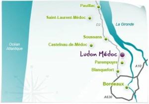 carte localisation ludon - Présentation de Ludon-Médoc