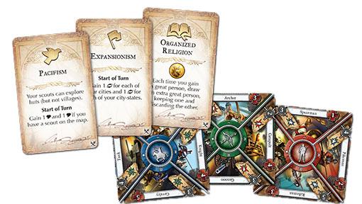 Cartas de la nueva expansión de civilizacion