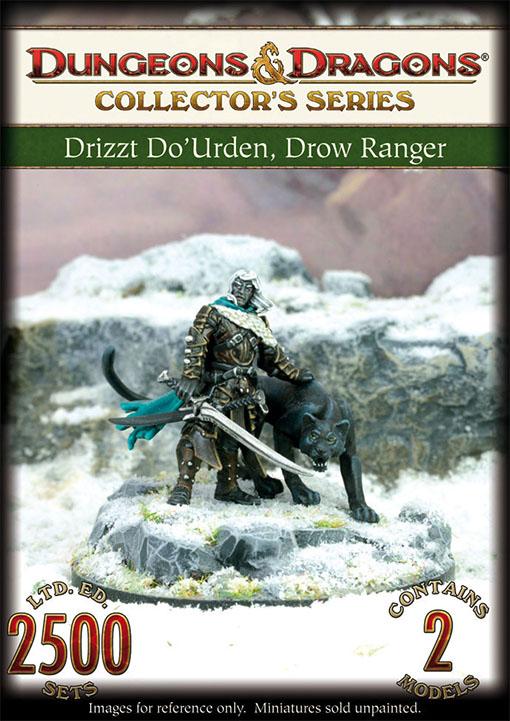 Miniatura de Drizzt Do'Urden y Guenhwyvar