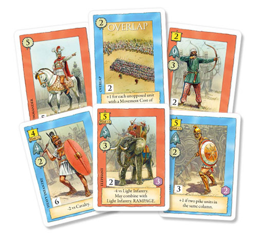 Cartas de tropas de field of glory the card game