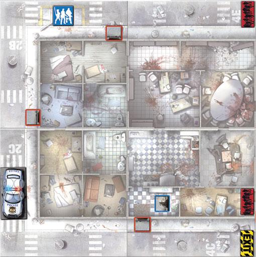 Mapa Numero uno del escenario de zombicide Salva a la animadora