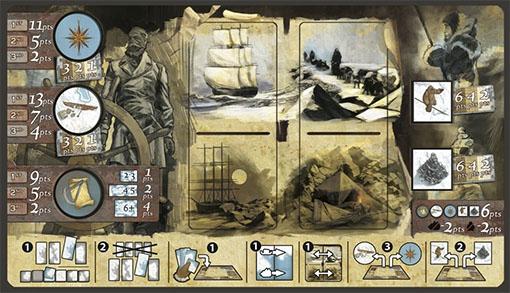 Tablero del jugador de Expedition Northwest passage