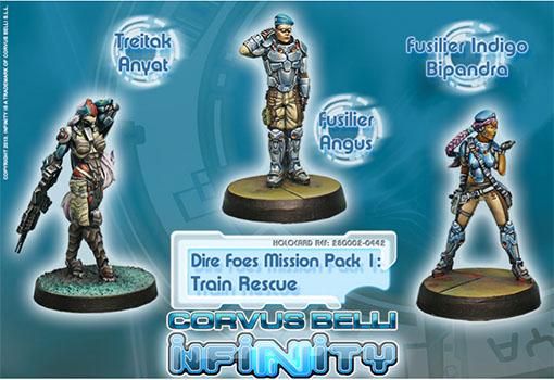 Miniaturas del dire foes mission pack 1 de infinity