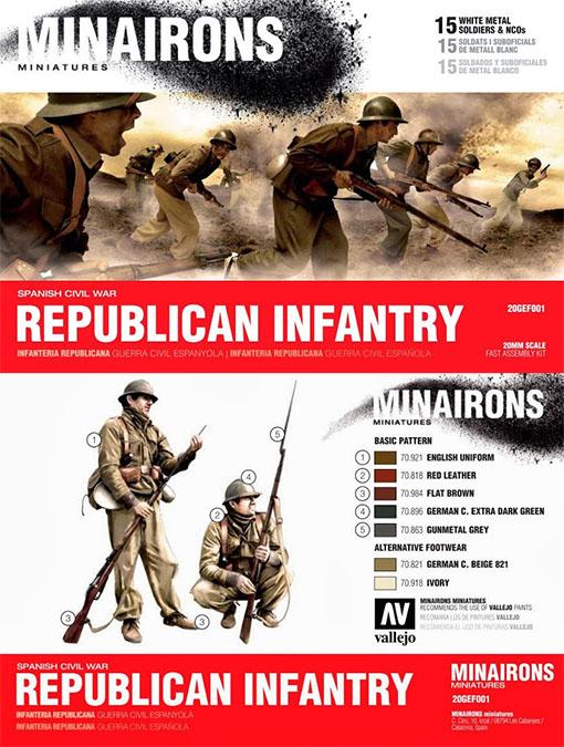 Caja de infanteria republicana de Minairons Miniatures