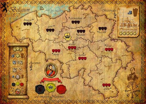 Tablero definitivo de Belgium 1831/kings Nation