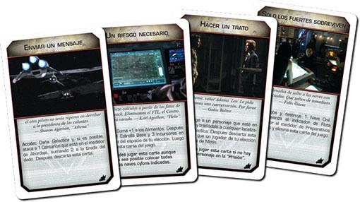 Nuevas cartas de motín de amanecer expansión de Battlestar Galactica
