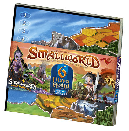 Portada de la expansión para seis jugadores de Small Wolrd