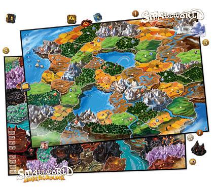 Mapas de la expansión para seis jugadores de Small World