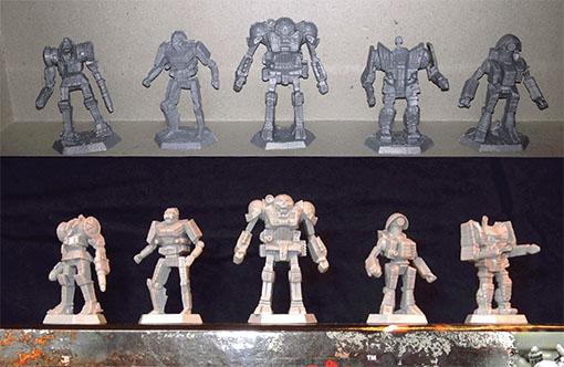 Comparación de Mechs de Battletech introductory Box Set