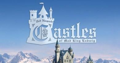 Detalle de la portada de Castles of Mad King Ludwig