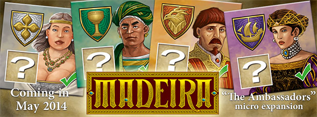 Portada de la expansion de madeira the ambassadors